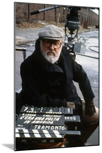 Once Upon a Time in America 1984 Directed by Sergio Leone on the Set, the Director Sergio Leone.--Mounted Photo