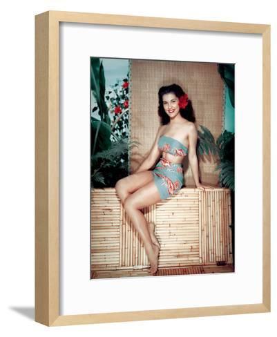 Bird of Paradise 1951 Directed by Delmer Daves Debra Paget--Framed Art Print