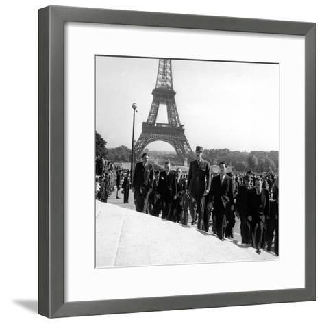 Le General Charles De Gaulle--Framed Art Print