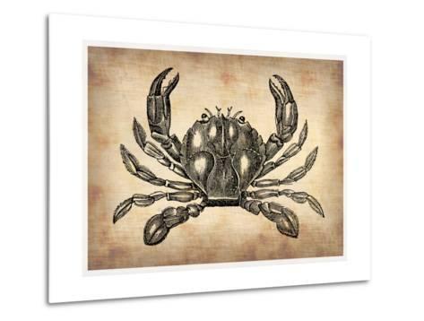 Vintage Crab-NaxArt-Metal Print
