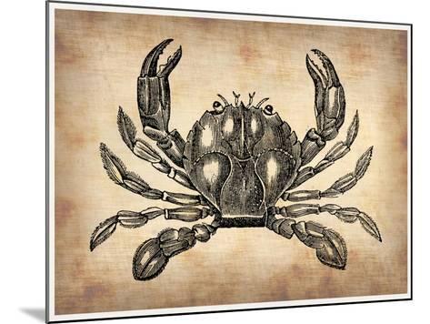 Vintage Crab-NaxArt-Mounted Art Print