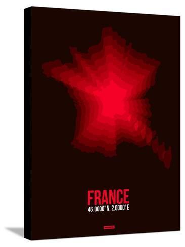 France Radiant Map 4-NaxArt-Stretched Canvas Print