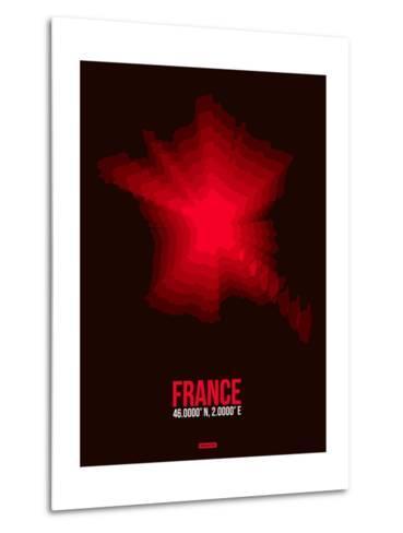 France Radiant Map 4-NaxArt-Metal Print