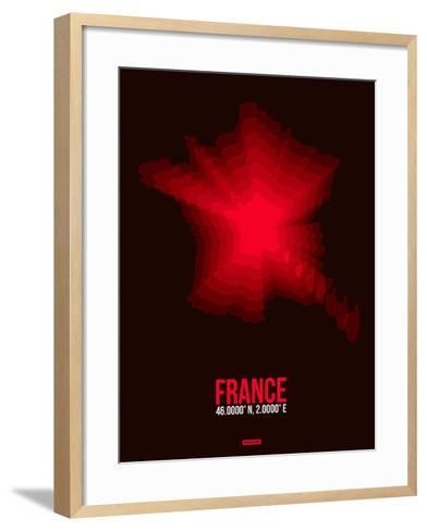 France Radiant Map 4-NaxArt-Framed Art Print