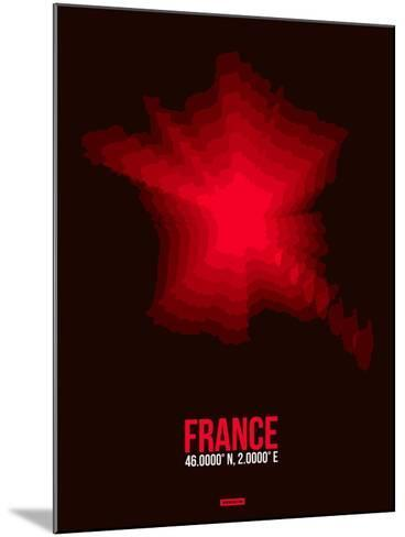France Radiant Map 4-NaxArt-Mounted Art Print
