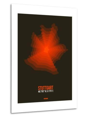Stuttgart Radiant Map 2-NaxArt-Metal Print