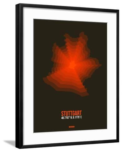 Stuttgart Radiant Map 2-NaxArt-Framed Art Print