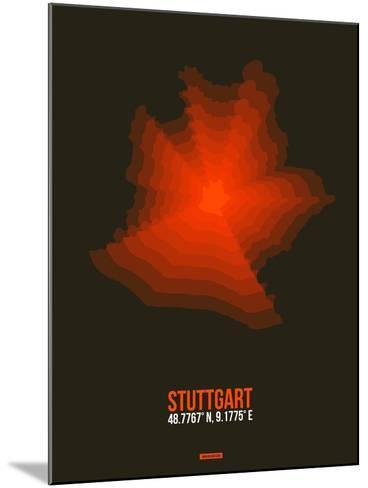 Stuttgart Radiant Map 2-NaxArt-Mounted Art Print