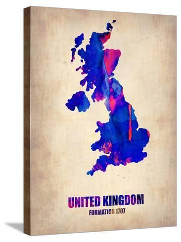 UK Watercolor Poster-NaxArt-Stretched Canvas Print