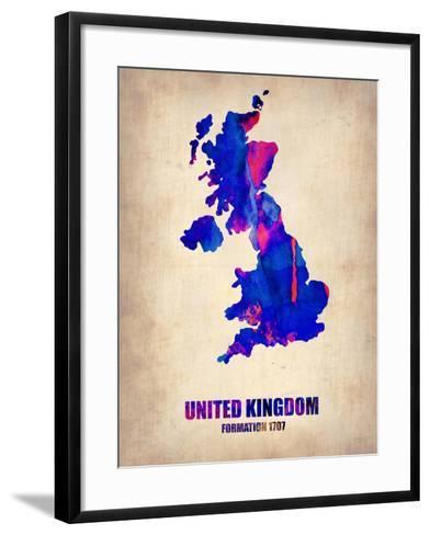 UK Watercolor Poster-NaxArt-Framed Art Print