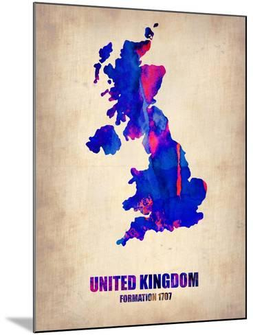 UK Watercolor Poster-NaxArt-Mounted Art Print