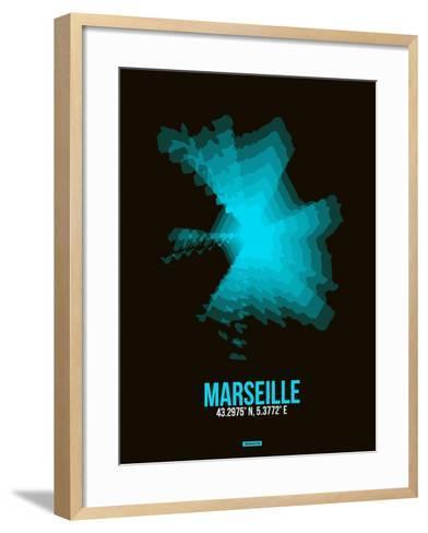Marseille Radiant Map 2-NaxArt-Framed Art Print