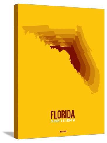 Florida Radiant Map 3-NaxArt-Stretched Canvas Print