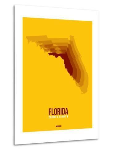 Florida Radiant Map 3-NaxArt-Metal Print