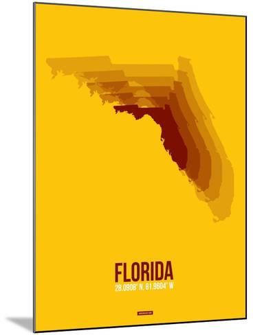 Florida Radiant Map 3-NaxArt-Mounted Art Print
