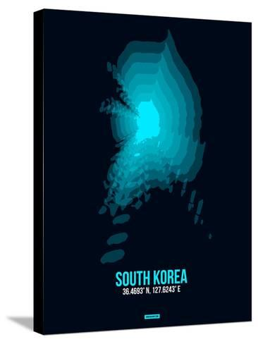 South Korea Radiant Map 2-NaxArt-Stretched Canvas Print