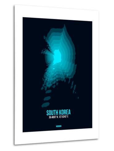South Korea Radiant Map 2-NaxArt-Metal Print
