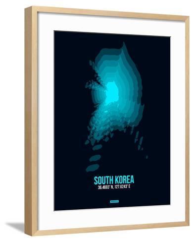 South Korea Radiant Map 2-NaxArt-Framed Art Print