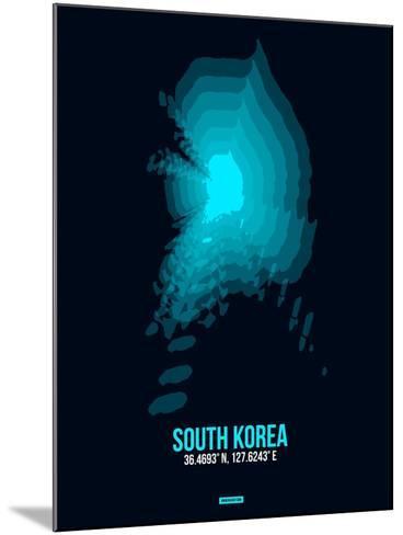 South Korea Radiant Map 2-NaxArt-Mounted Art Print