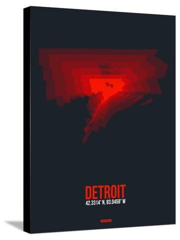 Detroit Radiant Map 3-NaxArt-Stretched Canvas Print