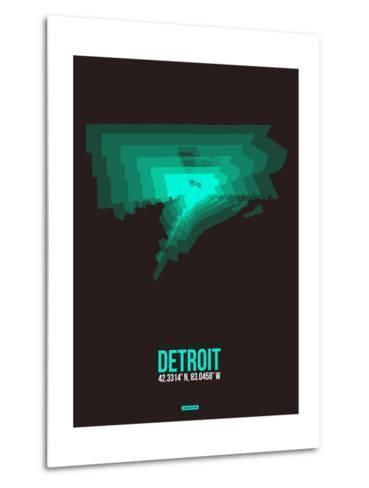Detroit Radiant Map 4-NaxArt-Metal Print