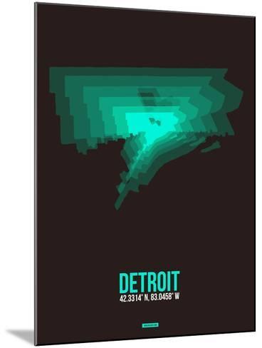 Detroit Radiant Map 4-NaxArt-Mounted Art Print