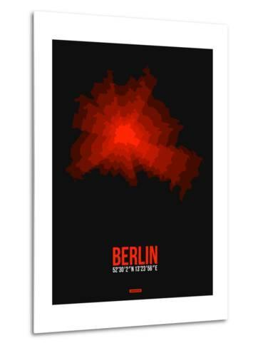 Berlin Radiant Map 2-NaxArt-Metal Print