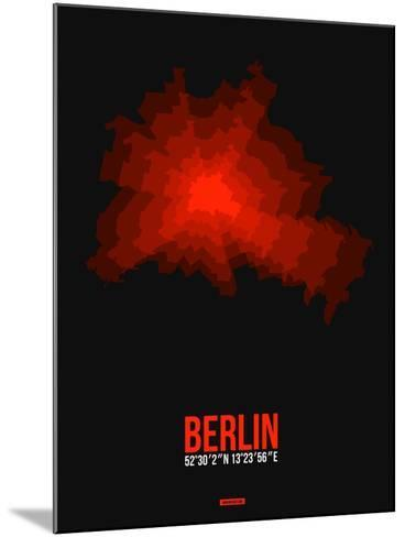 Berlin Radiant Map 2-NaxArt-Mounted Art Print