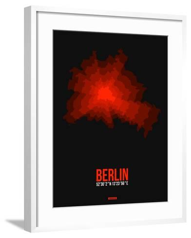 Berlin Radiant Map 2-NaxArt-Framed Art Print