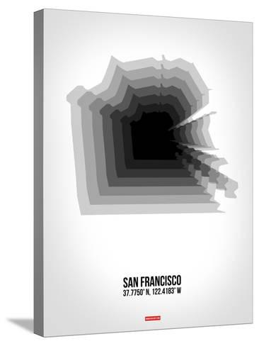 San Francisco Radiant Map 4-NaxArt-Stretched Canvas Print