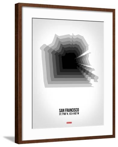 San Francisco Radiant Map 4-NaxArt-Framed Art Print
