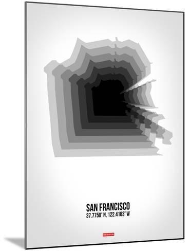 San Francisco Radiant Map 4-NaxArt-Mounted Art Print