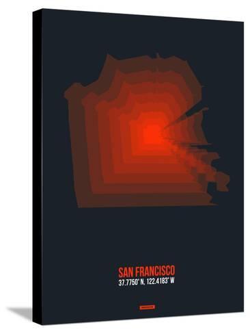 San Francisco Radiant Map 5-NaxArt-Stretched Canvas Print