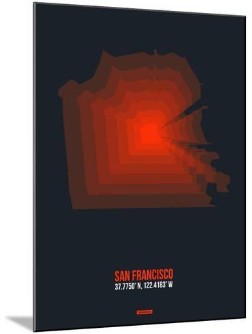 San Francisco Radiant Map 5-NaxArt-Mounted Art Print