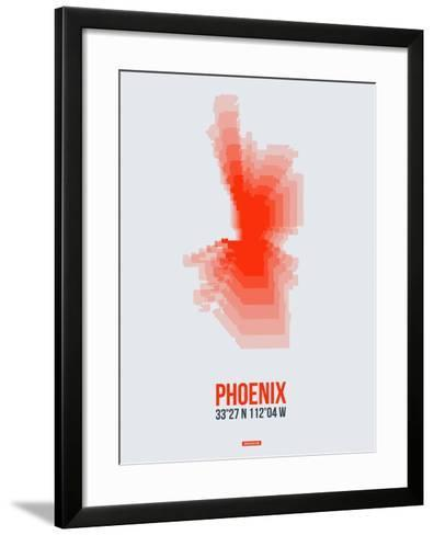 Phoenix Radiant Map 4-NaxArt-Framed Art Print