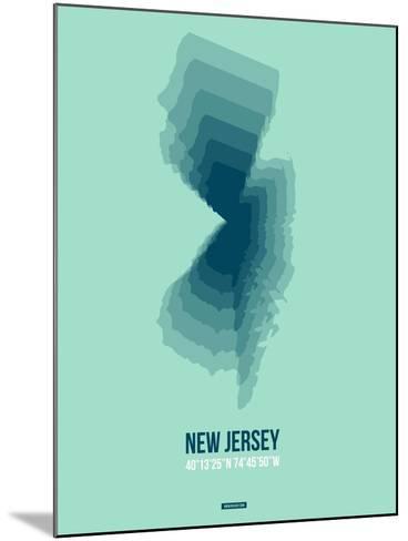 New Jersey Radiant Map 2-NaxArt-Mounted Art Print