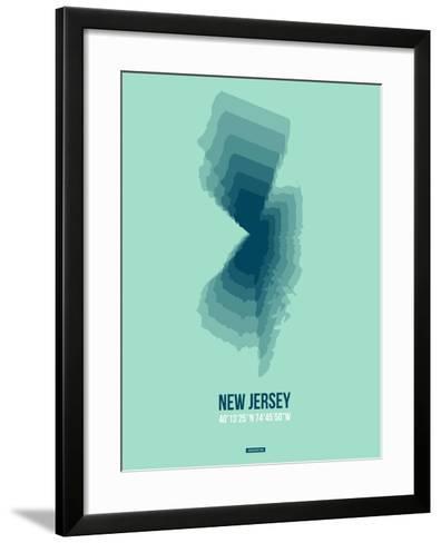 New Jersey Radiant Map 2-NaxArt-Framed Art Print