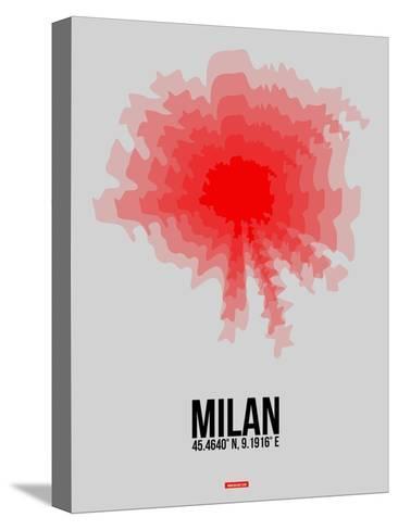 Milan Radiant Map 1-NaxArt-Stretched Canvas Print