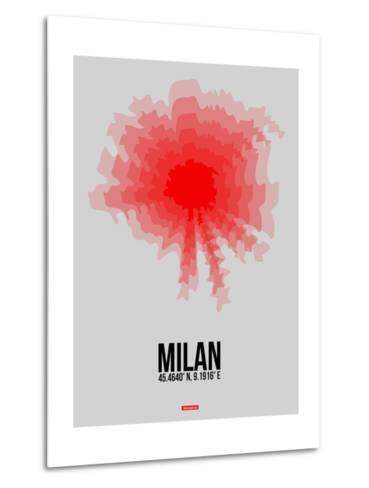 Milan Radiant Map 1-NaxArt-Metal Print