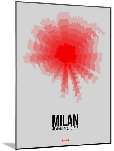 Milan Radiant Map 1-NaxArt-Mounted Art Print