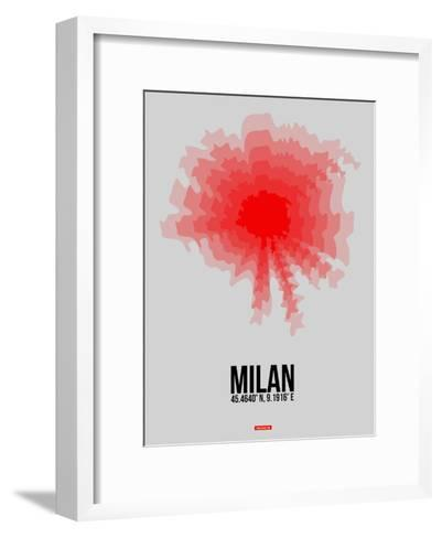 Milan Radiant Map 1-NaxArt-Framed Art Print