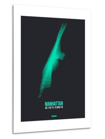 Manhattan Radiant Map 2-NaxArt-Metal Print