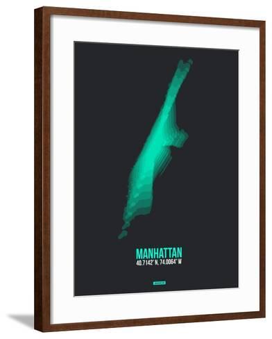 Manhattan Radiant Map 2-NaxArt-Framed Art Print