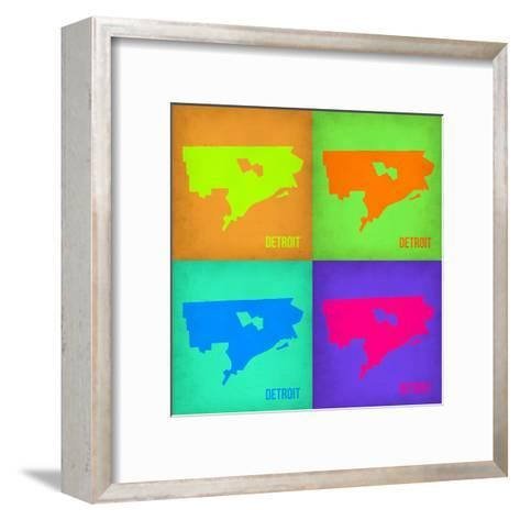Detroit Pop Art Map 1-NaxArt-Framed Art Print