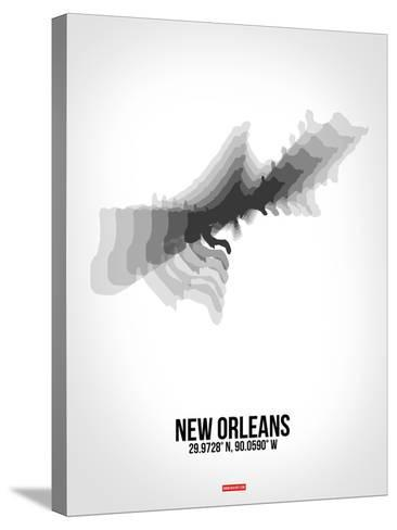 New Orleans Radiant Map 4-NaxArt-Stretched Canvas Print