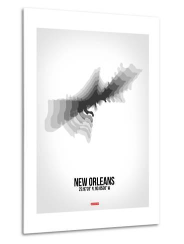 New Orleans Radiant Map 4-NaxArt-Metal Print
