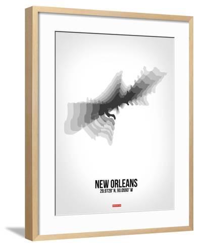 New Orleans Radiant Map 4-NaxArt-Framed Art Print