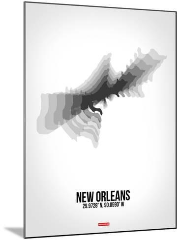 New Orleans Radiant Map 4-NaxArt-Mounted Art Print