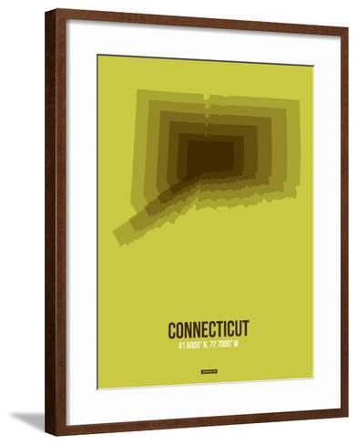 Connecticut Radiant Map 2-NaxArt-Framed Art Print