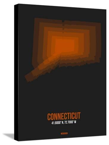 Connecticut Radiant Map 4-NaxArt-Stretched Canvas Print
